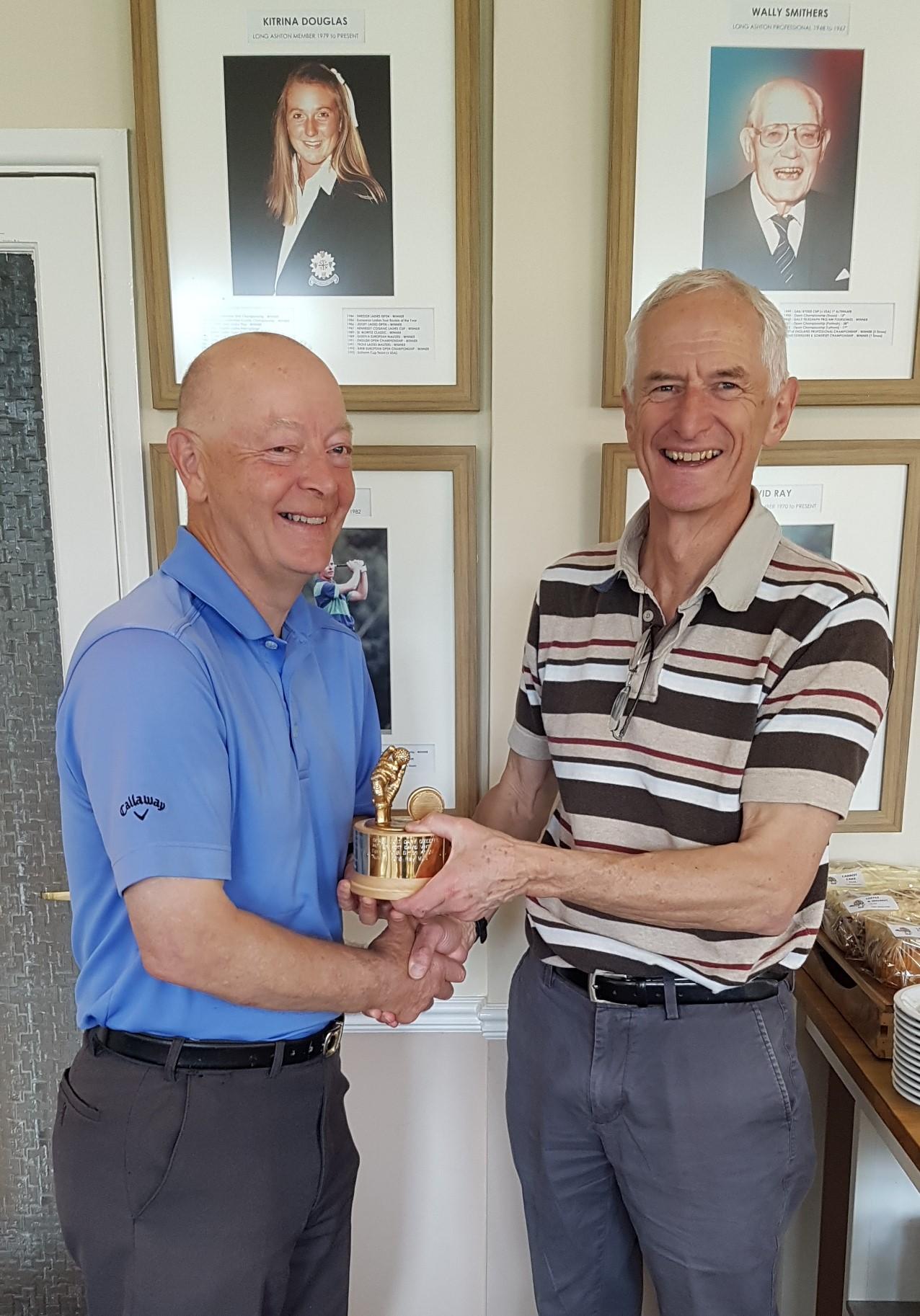Ray Mills winning the Squash Club Spring 2019