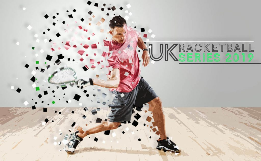 National Racketball/ Squash57 Championships, man hitting squash ball